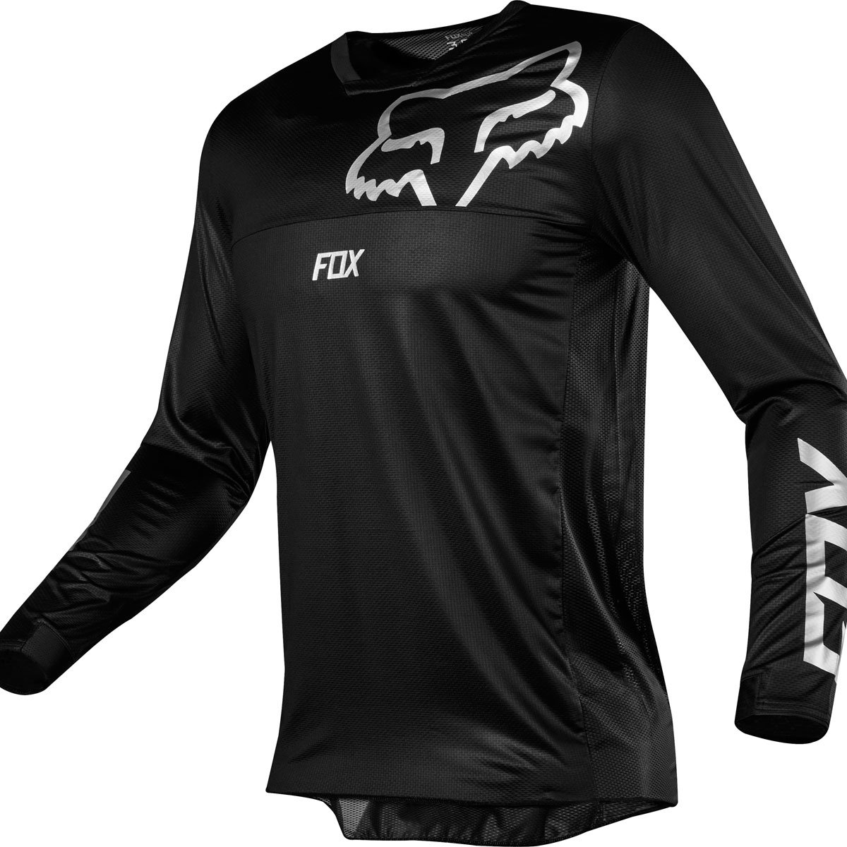 Fox Racing 2019 Airline Jersey-Black-L by Fox Racing