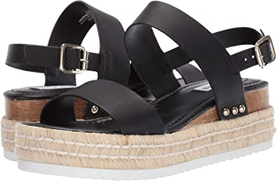 3cbf20a0ea0 Steve Madden Women s Catia Wedge Sandal Black Leather 6 ...