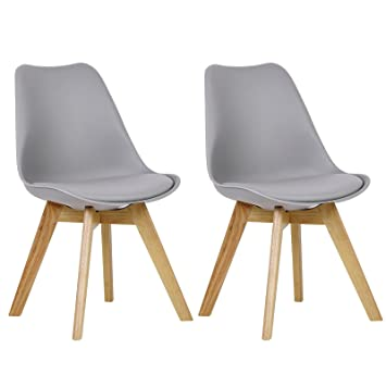 woltu 2 chaises de salle manger cuisinesalon chaisesdesign en similicuir et - Chaise Salle A Manger Design 2
