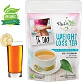 PureTea Detox Tea for Weight Loss, Best Slimming Tea and Appetite Suppressant, Reduce Bloating and Constipation for Weight Loss, 100% Natural Blend of Oolong Tea, Green Tea and Senna - 14 Tea Bags