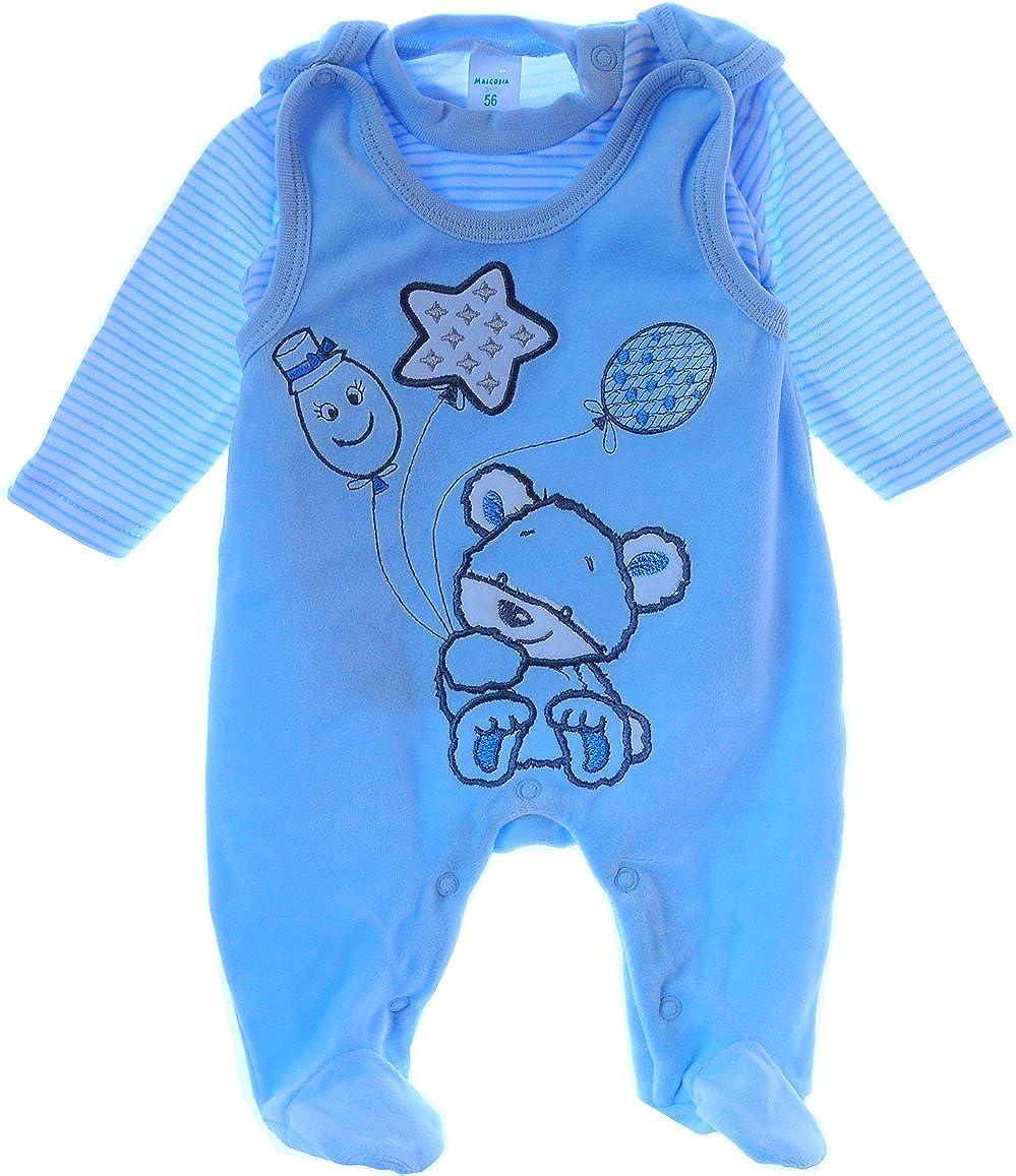 Malgosia A/&O Baby Strampler Set Nicki Stramplerhose /& Shirt 50 56 62 68 74 Blau Velour