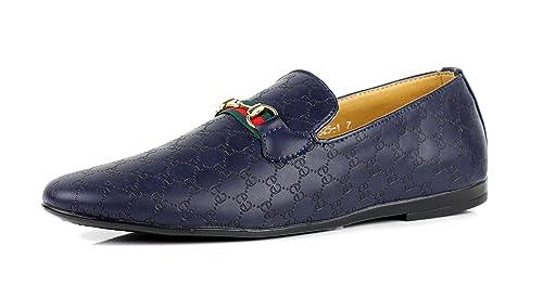 JAS para Hombre Casual Mocasines Mocasines Italiano sin Cordones Zapatos Piel Sintética: Amazon.es: Zapatos y complementos