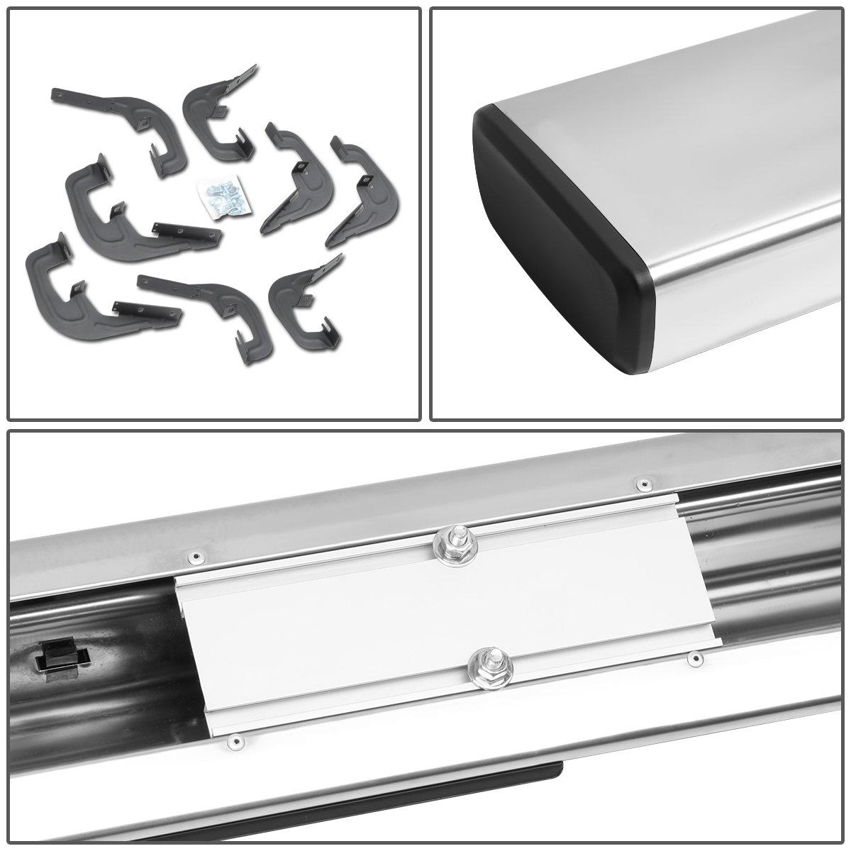 DNA Motoring STEPB-3-020-SS Stainless Steel 3 Side Step Nerf Bar Running Board