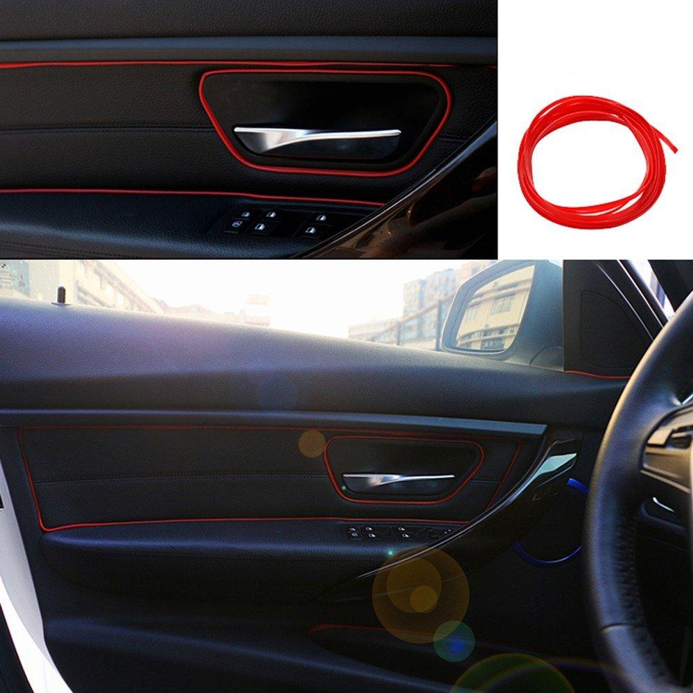 Amazon.com: 5M Flexible Trim For DIY Automobile Car Interior Exterior  Moulding Trim Decorative Line Strip (Red): Automotive