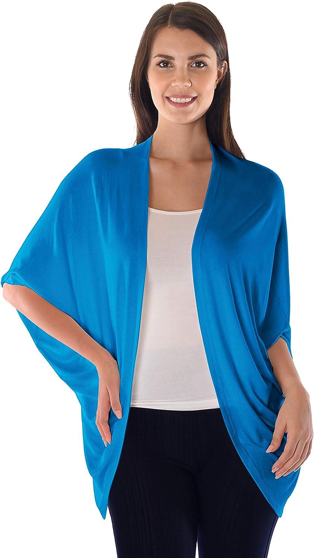 DFF Shop Women's Batwing Half Sleeve Open Cardigan (Size: S- 5X)