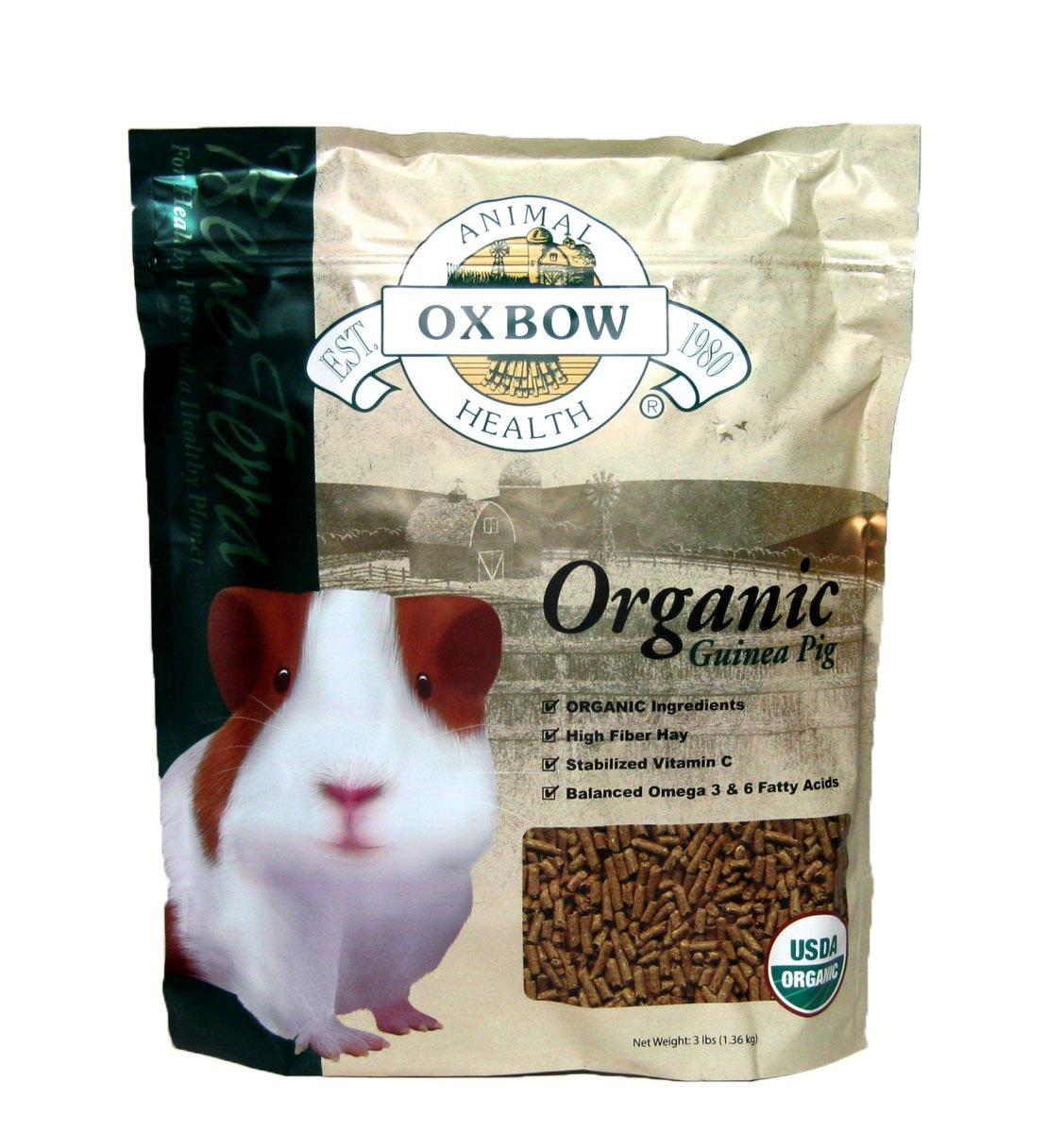Oxbow Animal Health Guinea Pig Bene Terra Organic Food And Treats, 3-Pound by Oxbow Animal Health