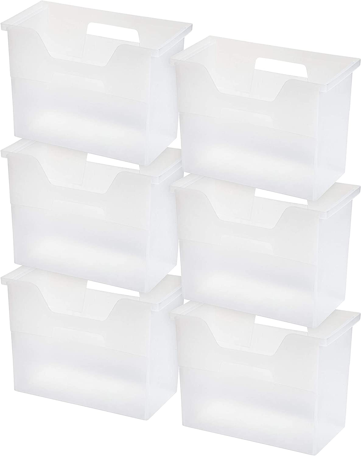 IRIS USA, Inc. OTFB-M Desktop File Box, Medium, Clear