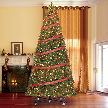 15 ft pre lit led wesley pine artificial christmas tree x 6558 tips with
