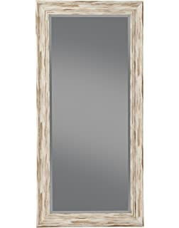 Amazon.com: Floor mirror/ blue wall mirror/ vanity mirror / Wood ...