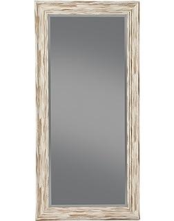 sandberg furniture farmhouse full length leaner mirror antique white wash - Wood Frame Full Length Mirror