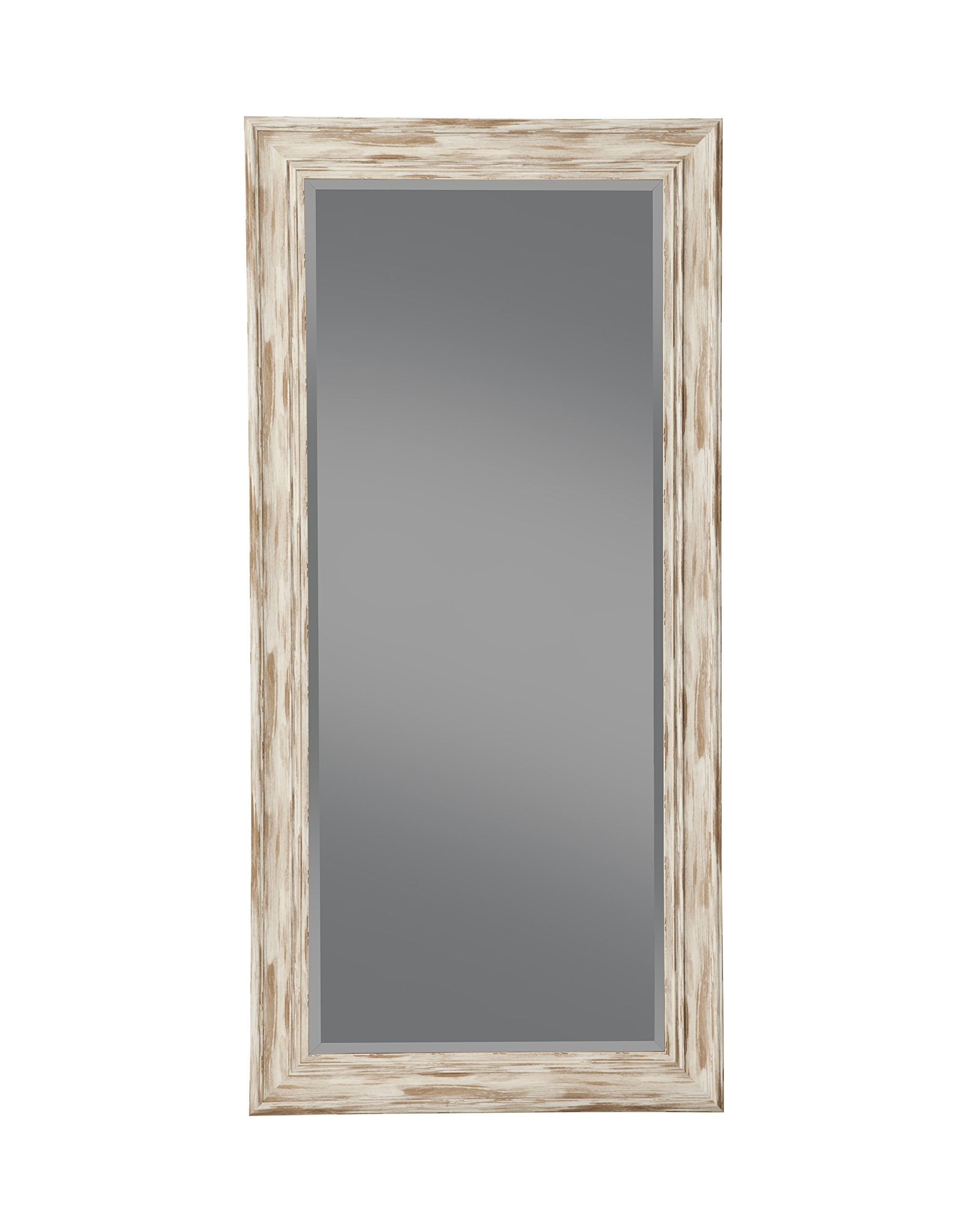 Sandberg Furniture Farmhouse, Full Length Leaner Mirror, Antique White Wash