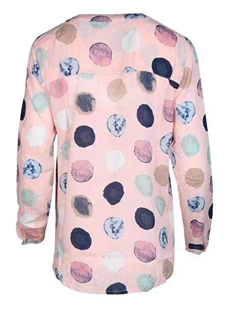Zwillingsherz - Blusa con diseño de lunares - Alta calidad para mujer -  Camisa de manga larga - Camiseta - Sudadera - Suéter - Camisa para verano 7c0cb08bfed3