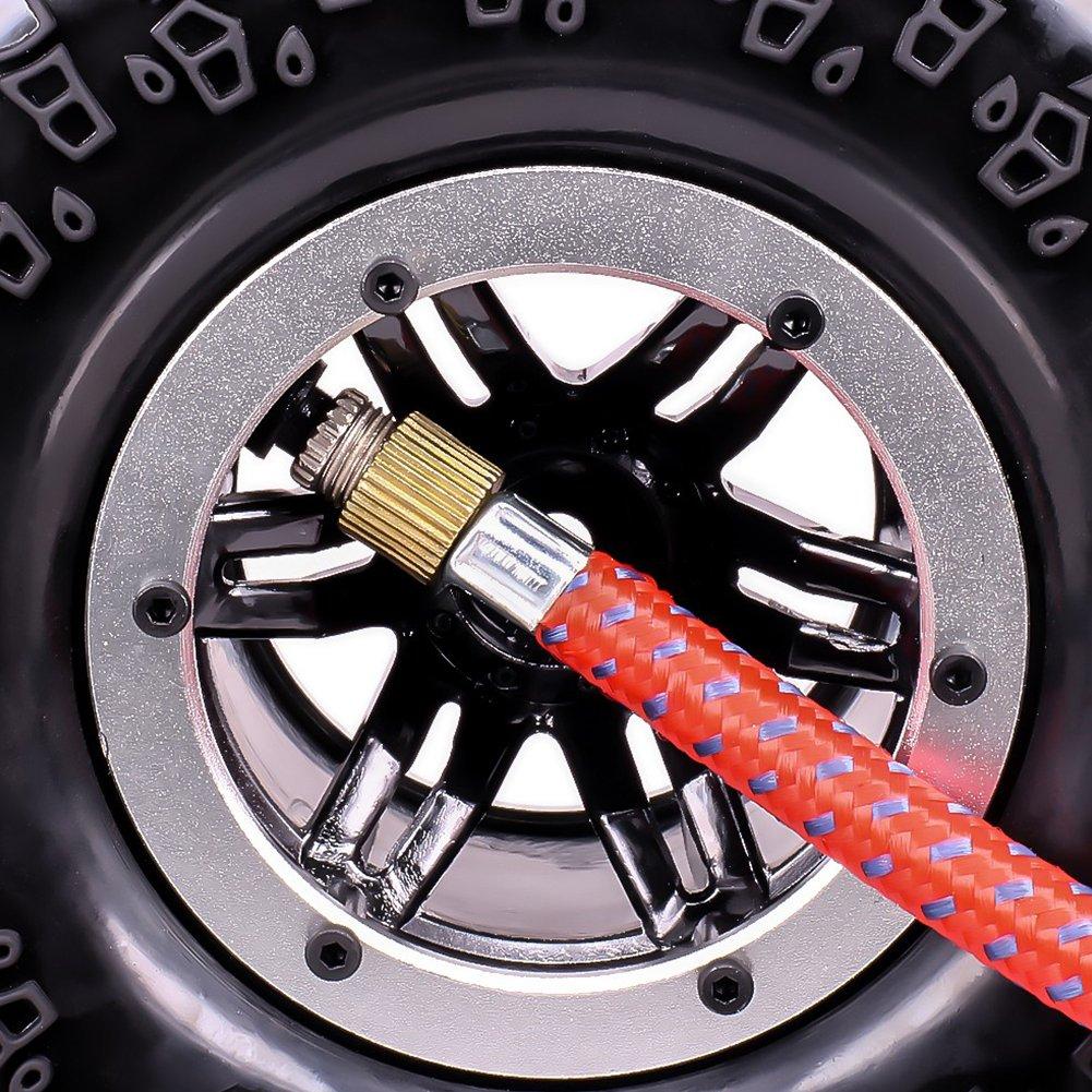 Inflatable Tire Air Pneumatic Wheel 2.2 Inch Beadlock For 1//10 RC Crawler Truck Car 4pcs Silver