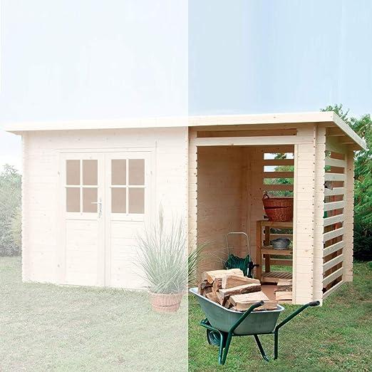 Gartenpro porticato para casa jardín Erika madera nordico 159 x 218 x 198/213h: Amazon.es: Jardín