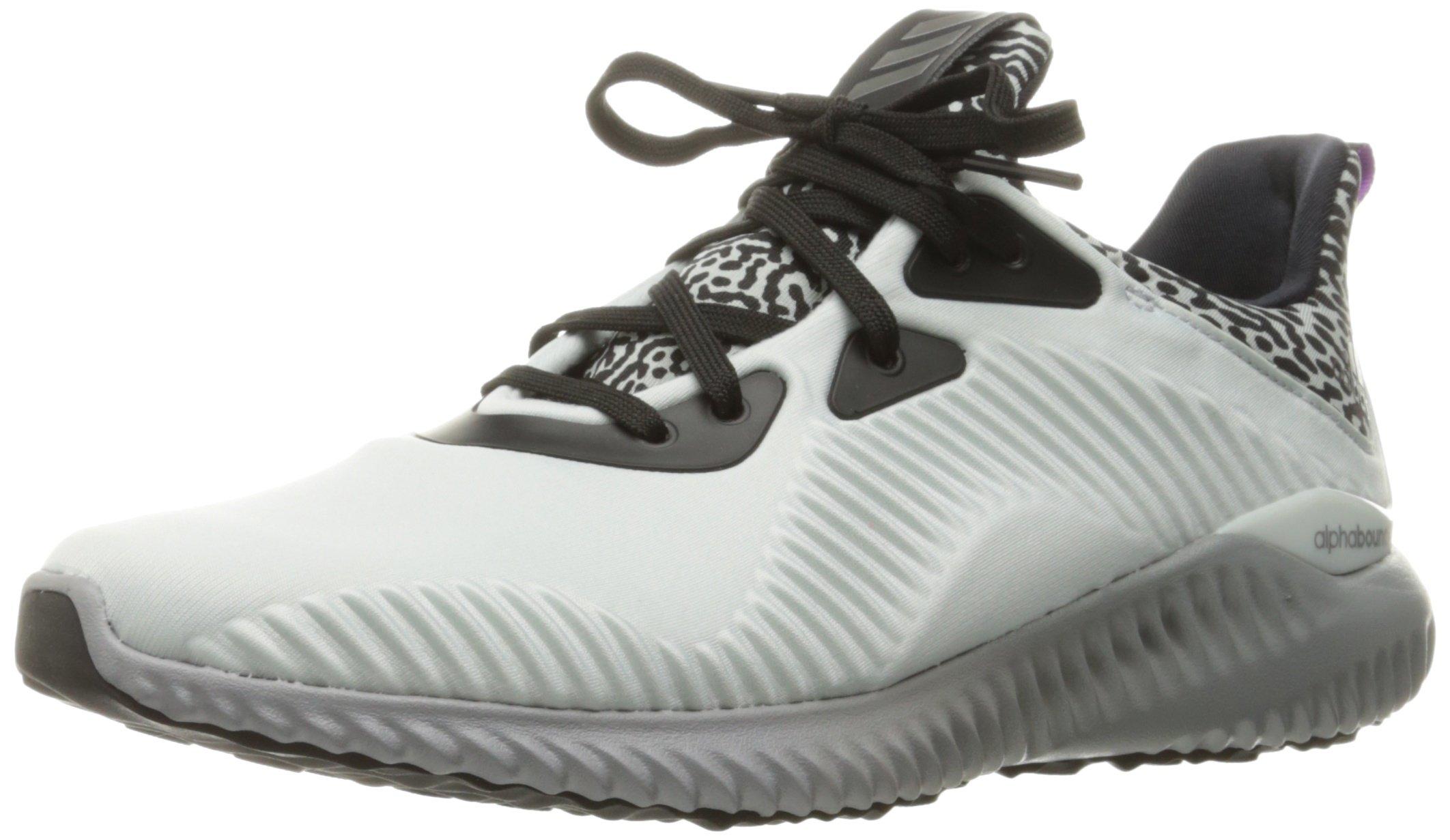 grand choix de 5f5ec a631b adidas Performance Women's Alphabounce w Running Shoe, Crystal White / Neo  Iron Metallic Aluminum, 7 M US