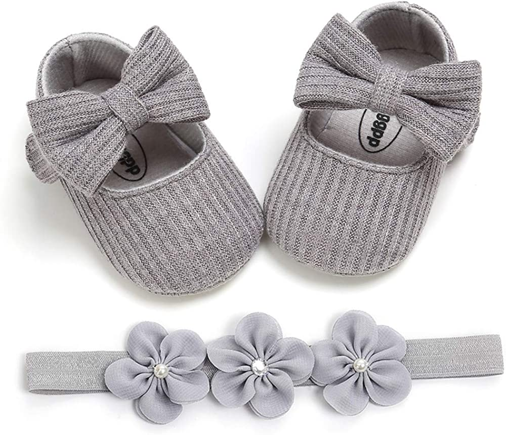 Infant Girl Shoes Mary Jane Flats Dress Shoes Soft Sole Baby Girls Crib Shoe Baby Princess Shoe First Walkers