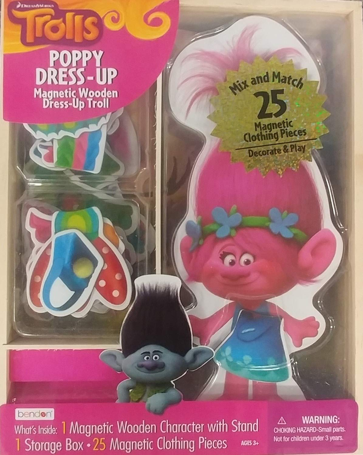 Bendon Trolls Poppy Dress-Up Magnetic Wooden Mix and Match by Bendon