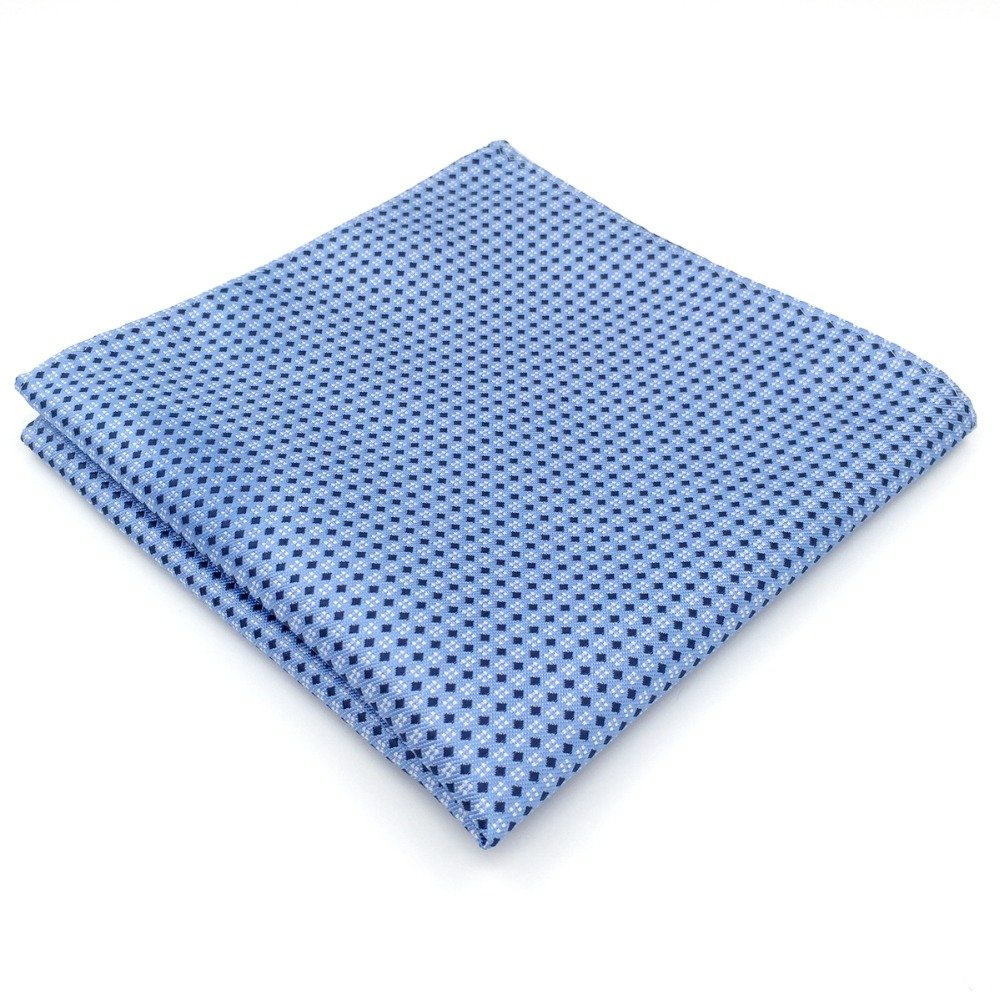 Shlax& Wing Blue Dots Dotty Men's Hanky Silk Pocket Square For Business Shlax & Wing BH6