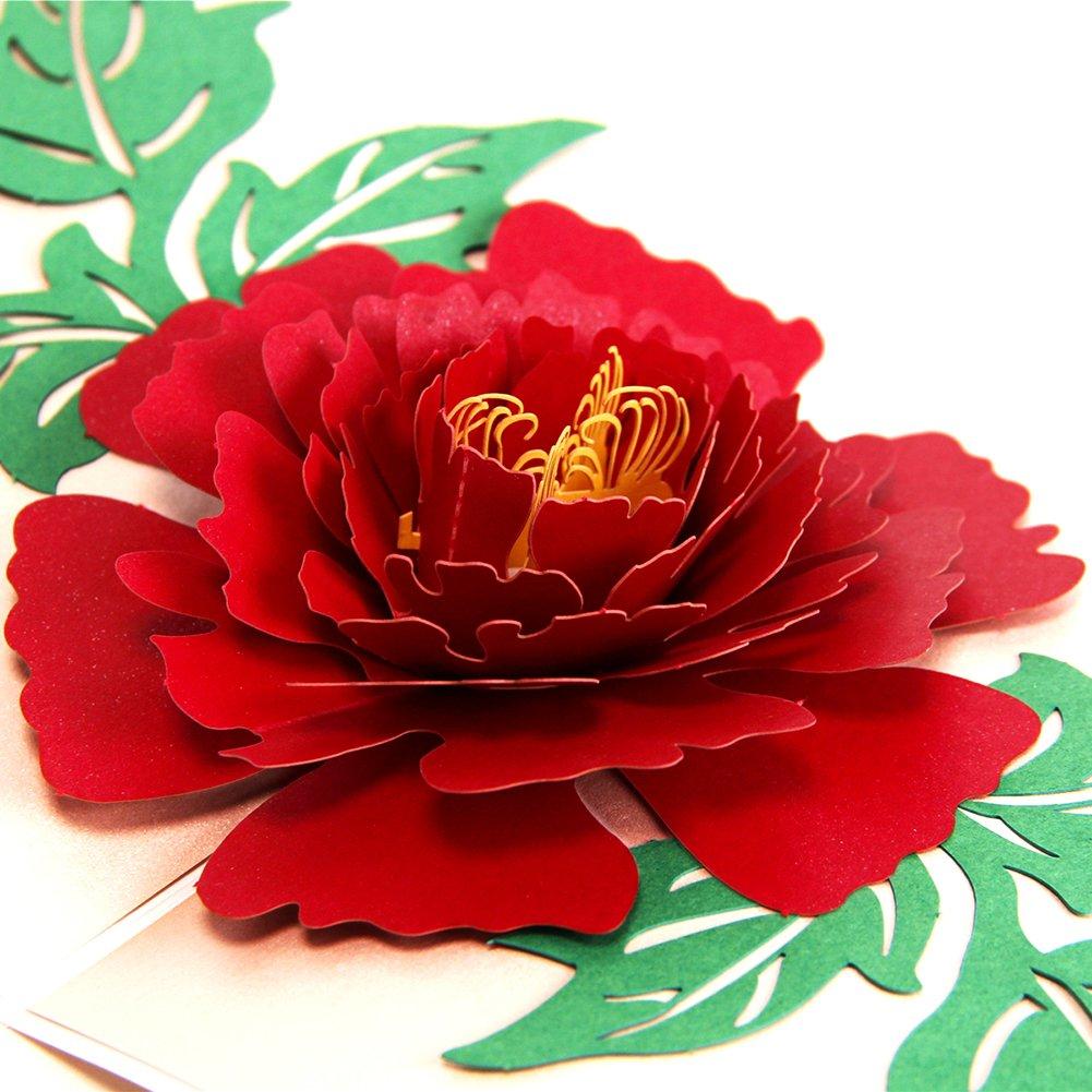 Biglietto Auguri San Valentino Compleanno 3D Pop Up Cartolina Auguri San Valentino Birthday Card Biglietto d'auguri 3D Pop Up Valentine's Day Thank You Card Paper Spiritz