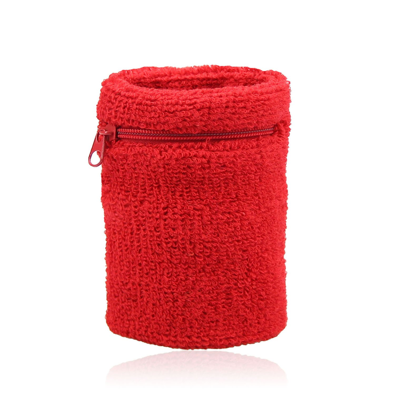 HOEREV Zipper Sweatband Wristband, Wrist Wallet, Price/Piece