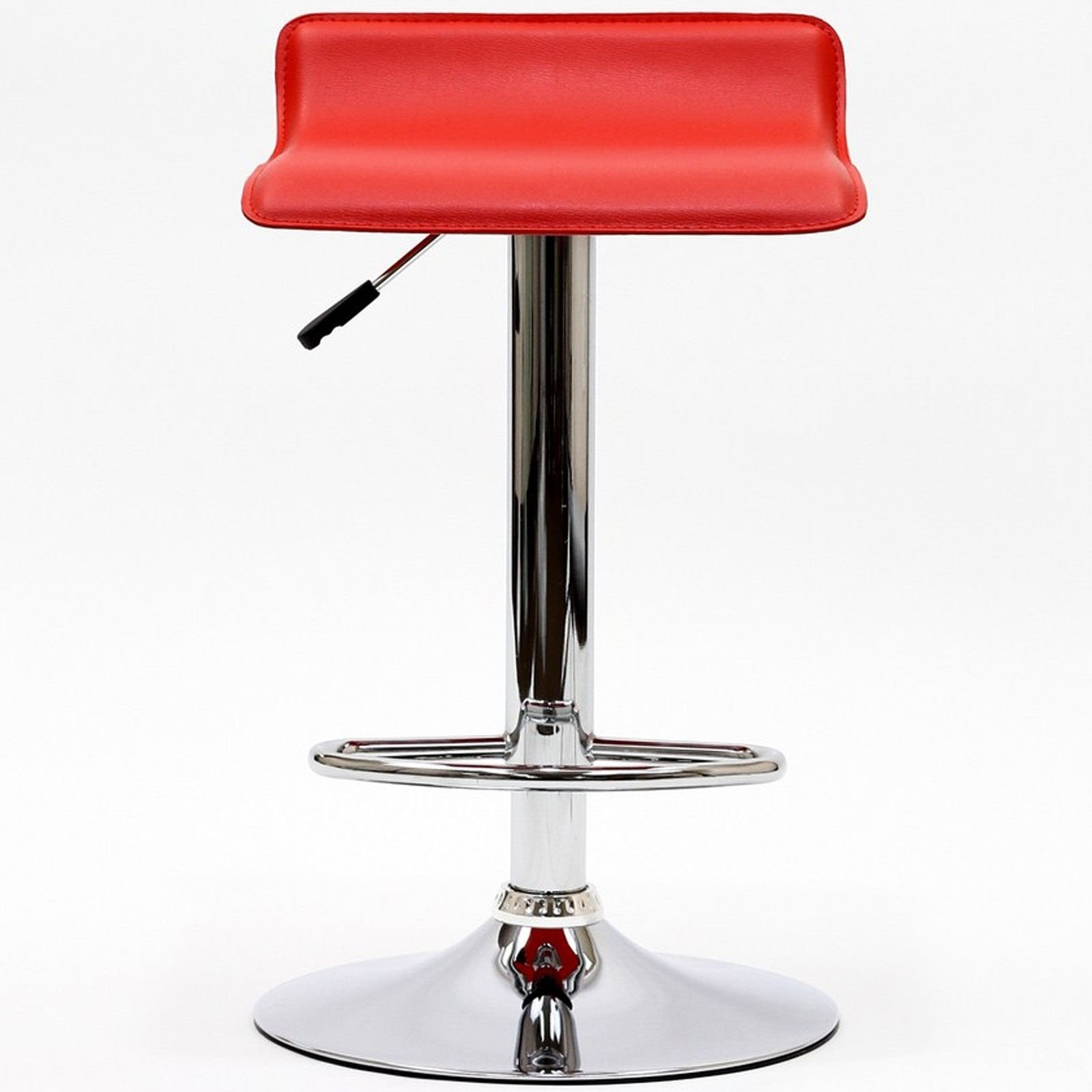 Modway Gloria Retro Modern Faux Leather Bar Stools in Red by Modway (Image #4)
