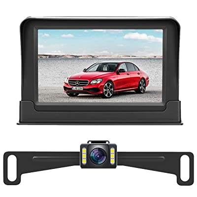 Rohent HD Backup Camera and Monitor License Plate Hitch Rear View Camera for Cars Trucks SUVs Front View Camera Crystal Clear Image IP69 Waterproof Super Night Vision : Camera & Photo