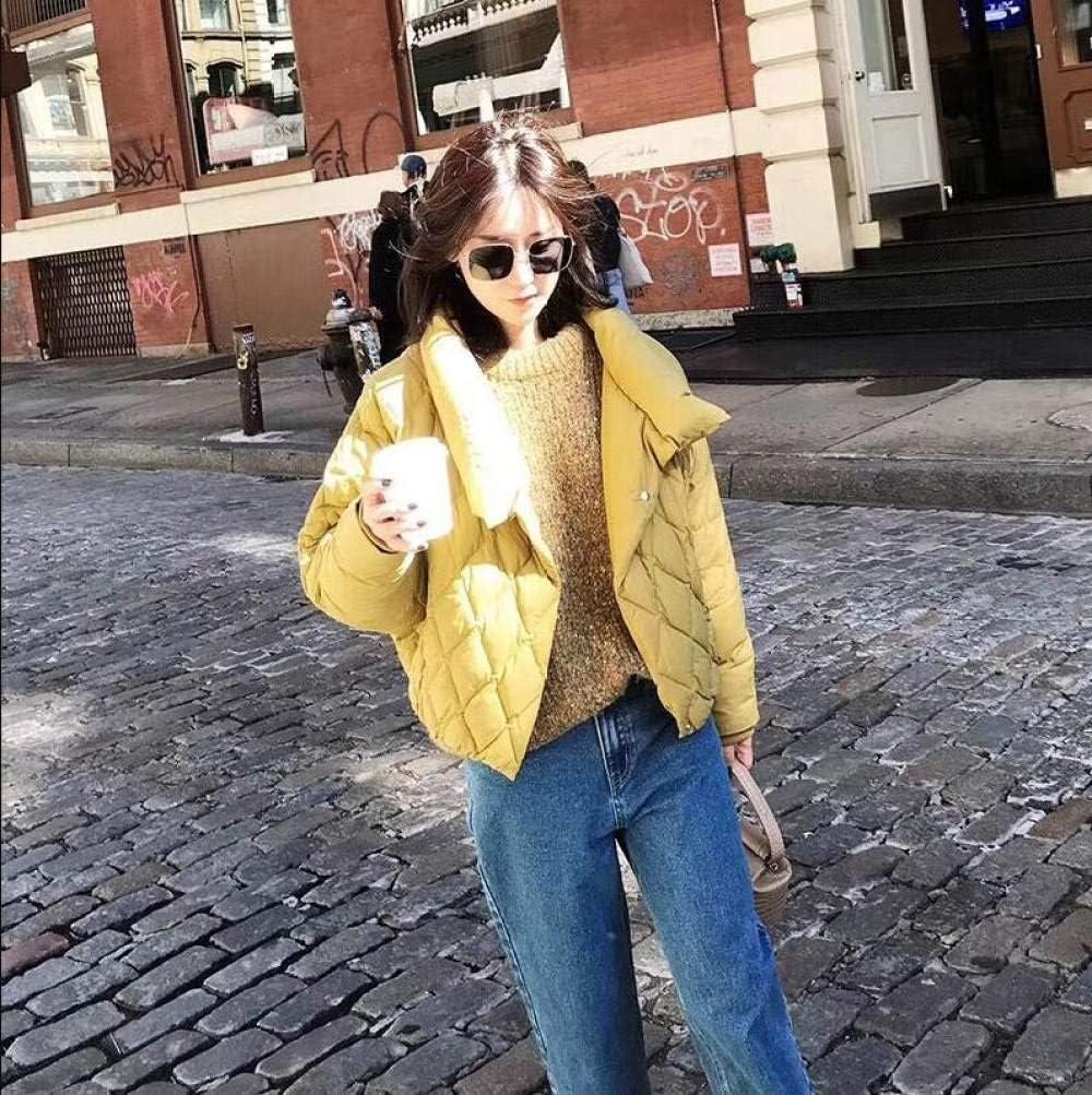 GUOYANGPAI Doudoune Manteau d'hiver Femme décontracté Ultra léger Blanc Duvet de Canard Veste Femmes Manteau Chaud en Duvet de Parka Jaune