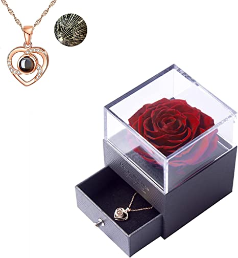 Flower Necklace Derby Necklace Valentine/'s Day Gift Silver Necklace Bar Necklace Rose Necklace Mother/'s Day Gift for Mom