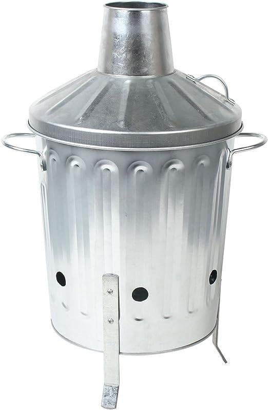 CrazyGadget® 15L 15 litros Metal galvanizado incinerador Mini jardín Fire Bin barbacoa para grabación de madera, hojas, papel y cocinar: Amazon.es: Hogar