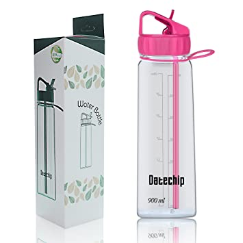 Botella Agua Deportes Con Paja - Datechip Mejor Frasco de Agua Botella De Agua Grande de
