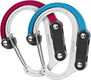 HEROCLIP Carabiner Clip and Hook (Medium) | for Camping, Backpack, and Garage
