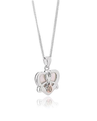 Clogau Gold Love Maze Heart Pendant on a Chain of 46cm 1cxFLZ