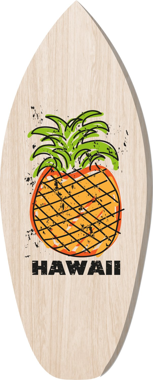 Cuadros Lifestyle 2D - Objeto de Pared Madera | Surf | Tabla de Surf | Hawaii | Piña | Madera de | Shabby Look | Rústico | Vintage | Madera de Objeto | Deko ...