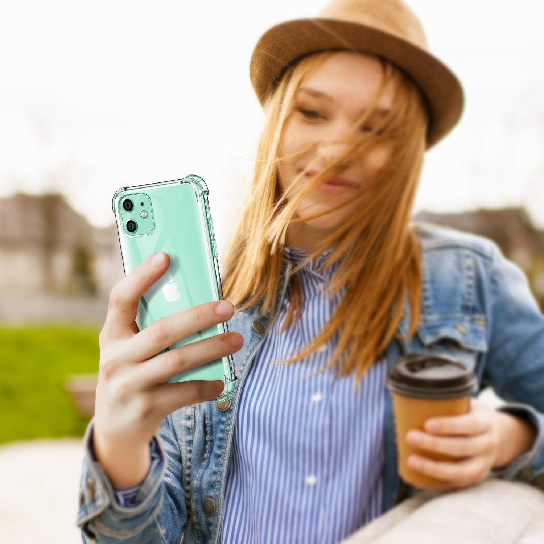 Transparent Antichoc avec Quatre Coins Renforc/és Bumper Housse Anti-Scratch Silicone TPU Soft Housse Protection Coque pour iPhone 11 2019 6.1 ivencase Coque pour iPhone 11