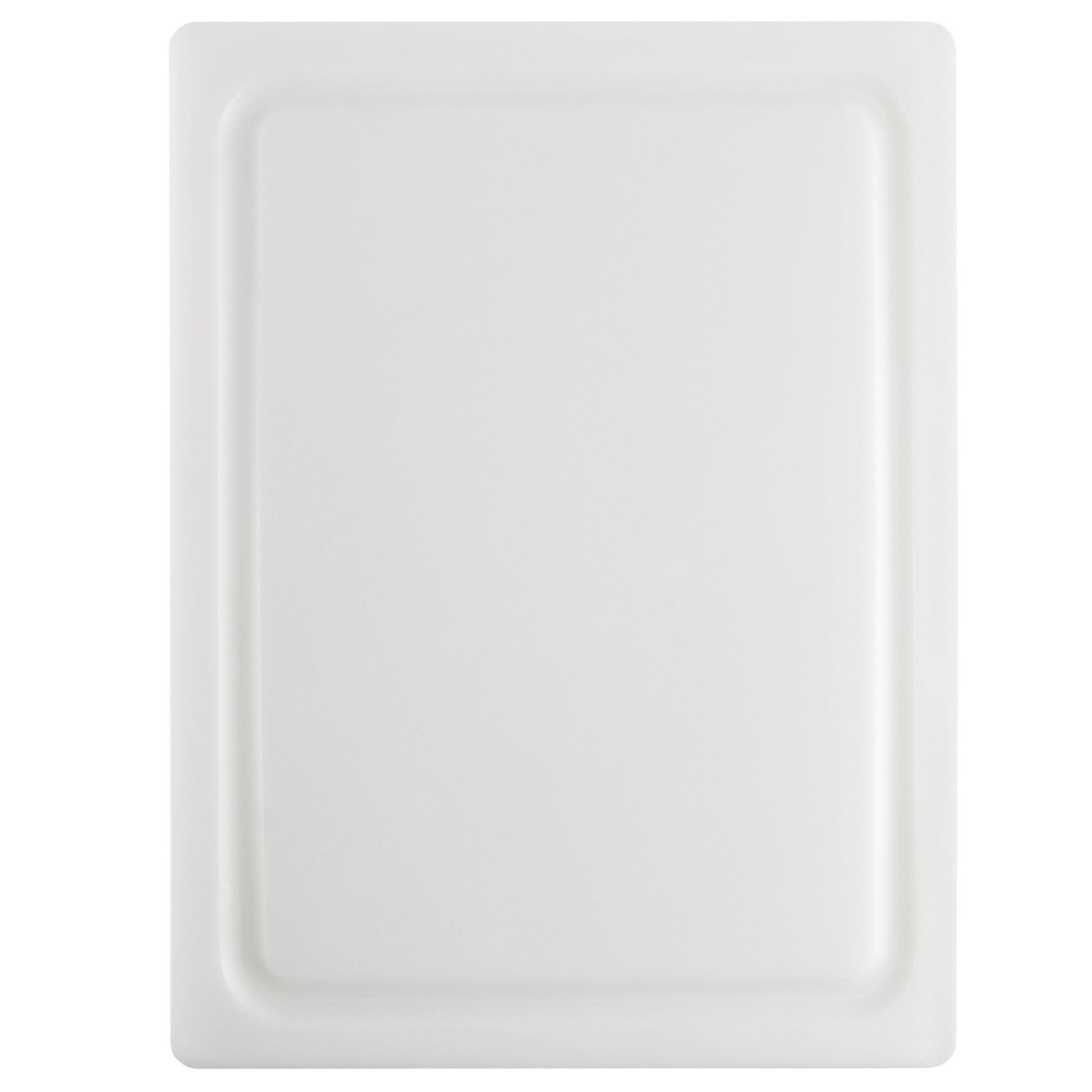 Dexas 4525-133 Nsf Approved Poly Cutting Board with Juice Well,12 x 16 x 5/8 Inches, White by Dexas (Image #1)