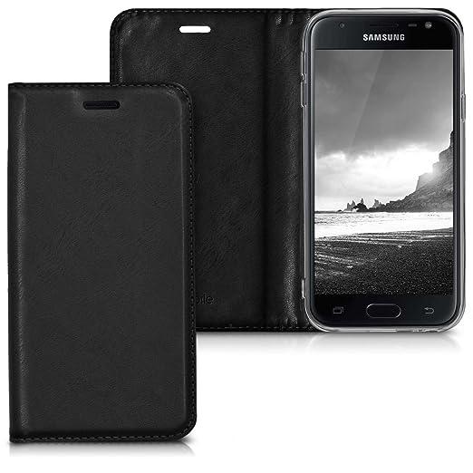 2 opinioni per kwmobile Custodia per Samsung Galaxy J3 (2017) DUOS- Cover a libro in simil