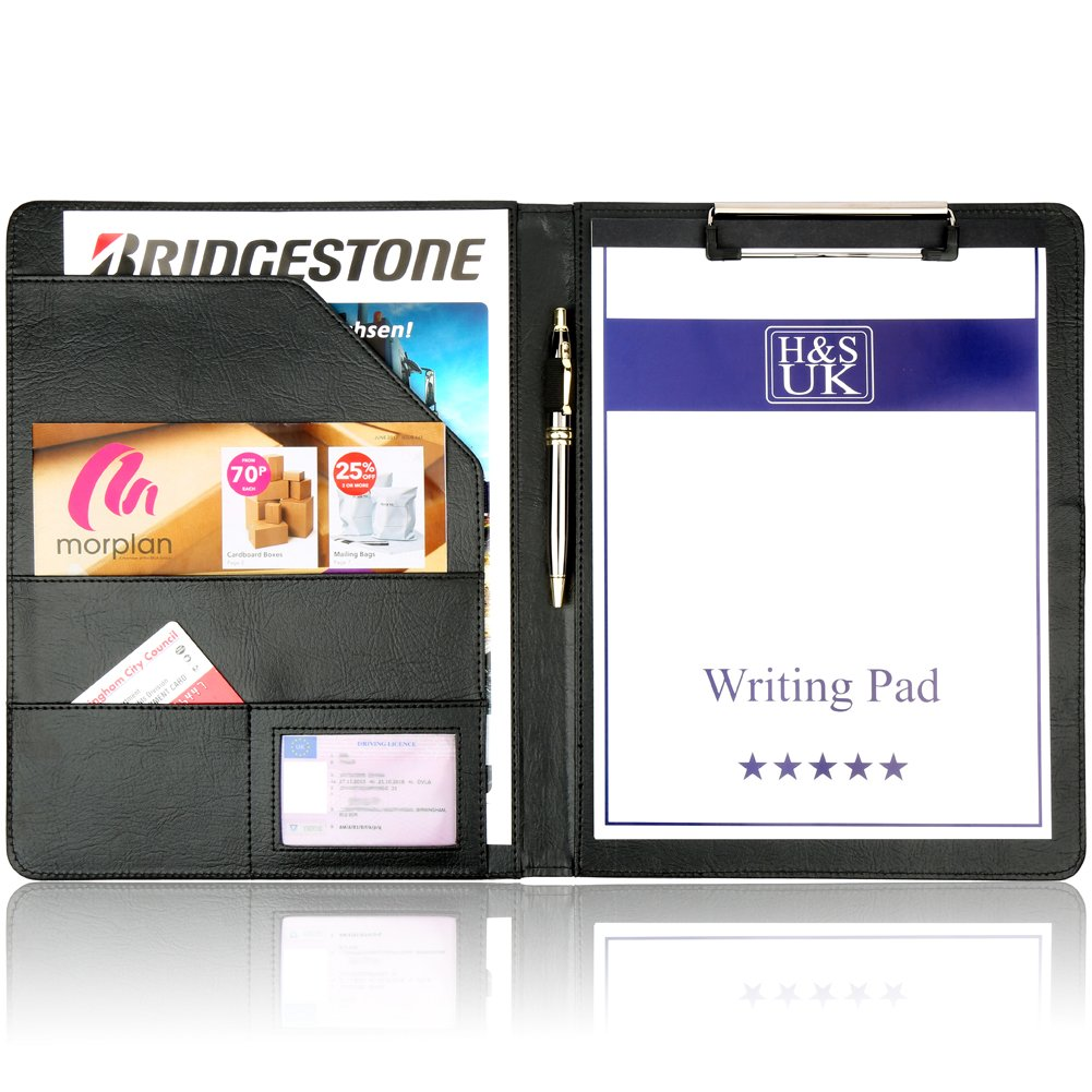 H&S A4 Clipboard Folder Conference Folder Padfolio Legal Writing ...