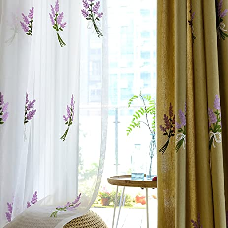 Amazon purple flowers voile sheer curtains anady top 2 panel purple flowers voile sheer curtains anady top 2 panel white sheer drapes grommet top 84 mightylinksfo