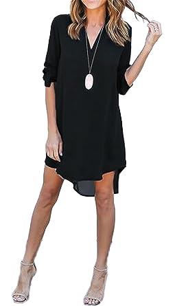 NEW Fashion Women Dress Spring Summer Chiffon Long Sleeve Casual Dress Split Tops Blusas Sexy Shirt