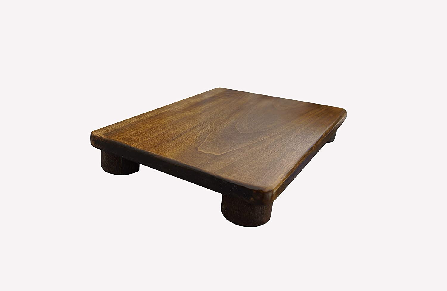 """KR Ideas Foot Stool, 2"""" Tall, Poplar, (Made in The USA) Unfinished"""