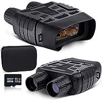 NOCOEX Prismáticos de visión nocturna con 100% infrarrojo oscuro, gafas de visión nocturna digitales, toma de vídeo HD y…