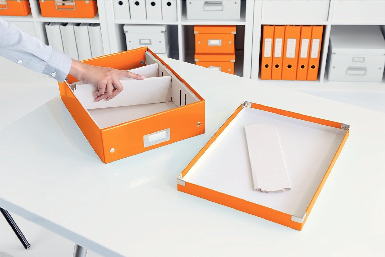 60430044 Click and Store Naranja Leitz Caja de almacenamiento peque/ña A5