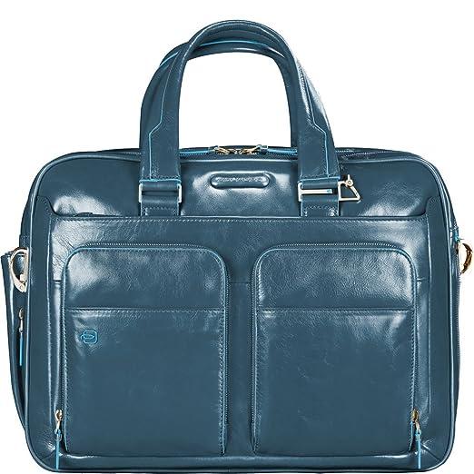 18 opinioni per Piquadro Blue Square Cartella, 2 Manici, 41x30.5x16 cm, Avio (Blu)