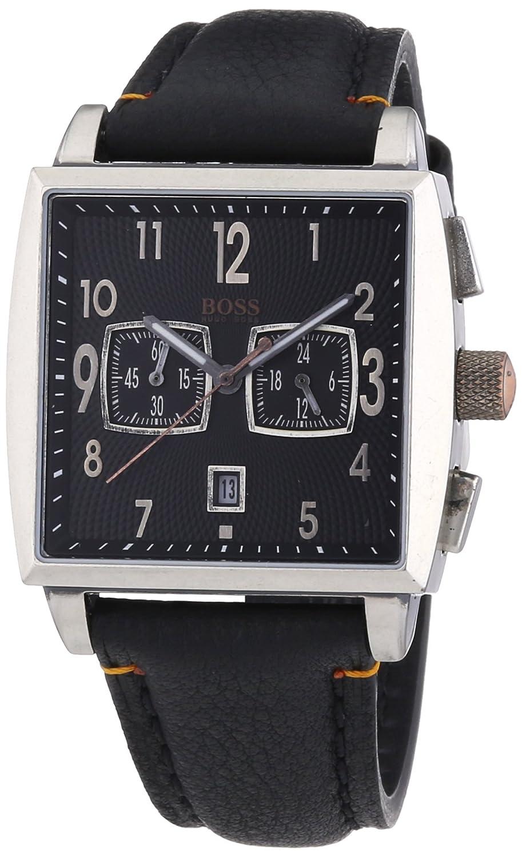 Hugo Boss Herren-Armbanduhr Orange Chronograph Quarz Leder 1512144
