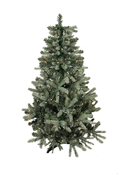 9 pre lit blue spruce full artificial christmas tree clear lights - Blue Spruce Artificial Christmas Tree