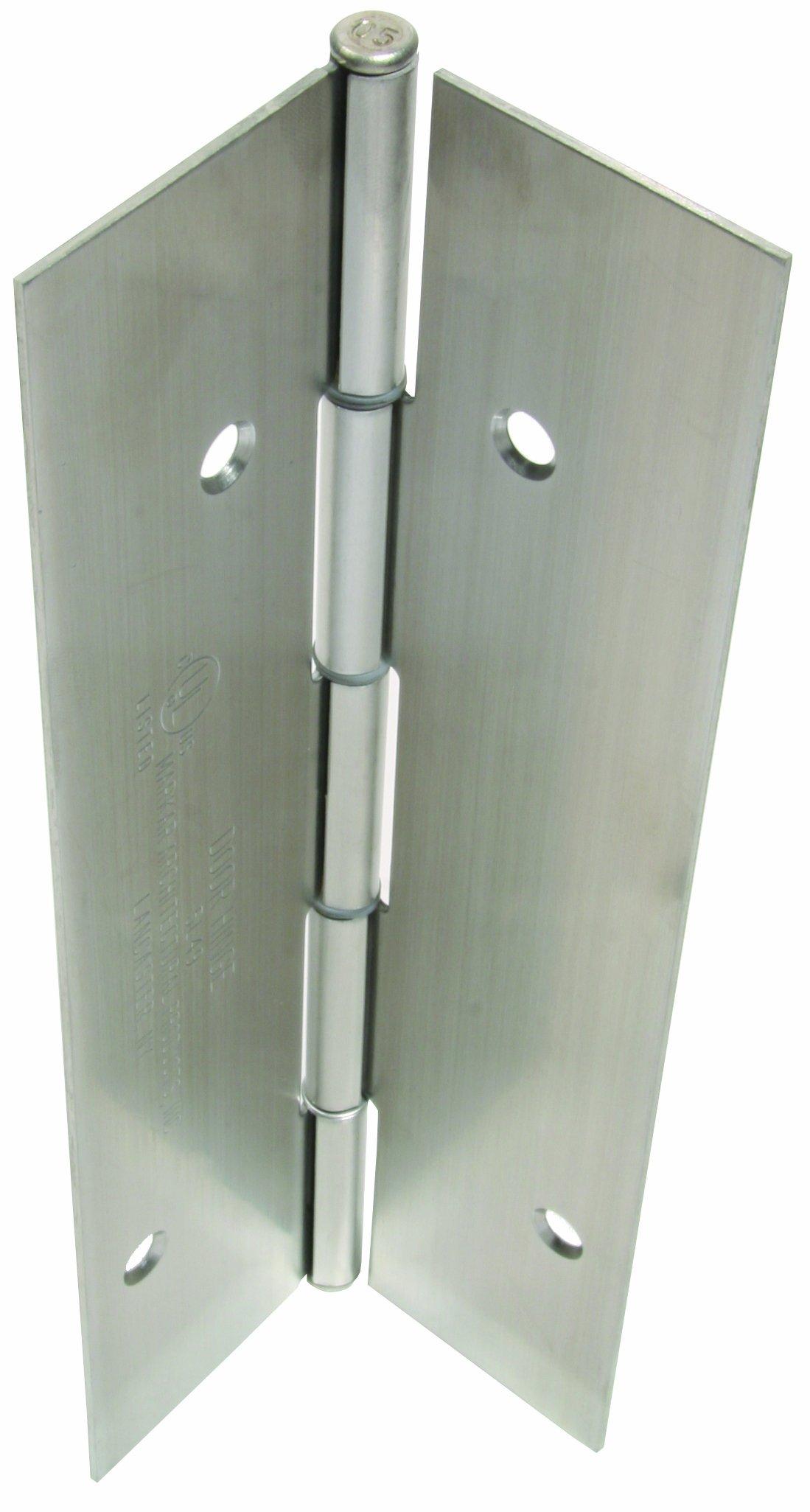 Markar Full Mortise Heavy Duty Satin Stainless Steel Edge Mounted Hinge, 83.125'' Length