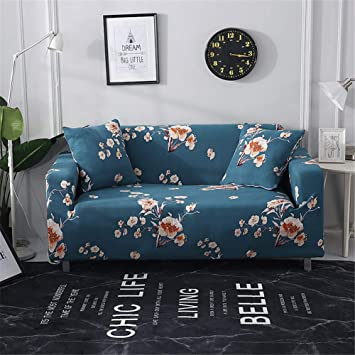 Tremendous Nordmiex Stretch Sofa Slipcovers Fitted Furniture Protector Print Sofa Cover Stylish Fabric Couch Cover With 2 Pillowcases For 2 Cushion Gmtry Best Dining Table And Chair Ideas Images Gmtryco