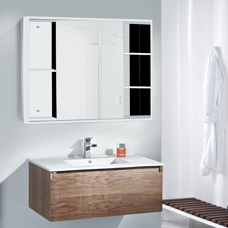 800 X 600 Stainless Steel Mirror Cabinet Fashion Design Bathroom