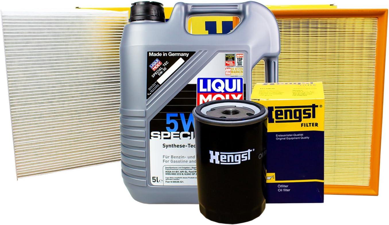 Hengst Filter Set Inspektionspaket 5l Liqui Moly 5w 30 Auto