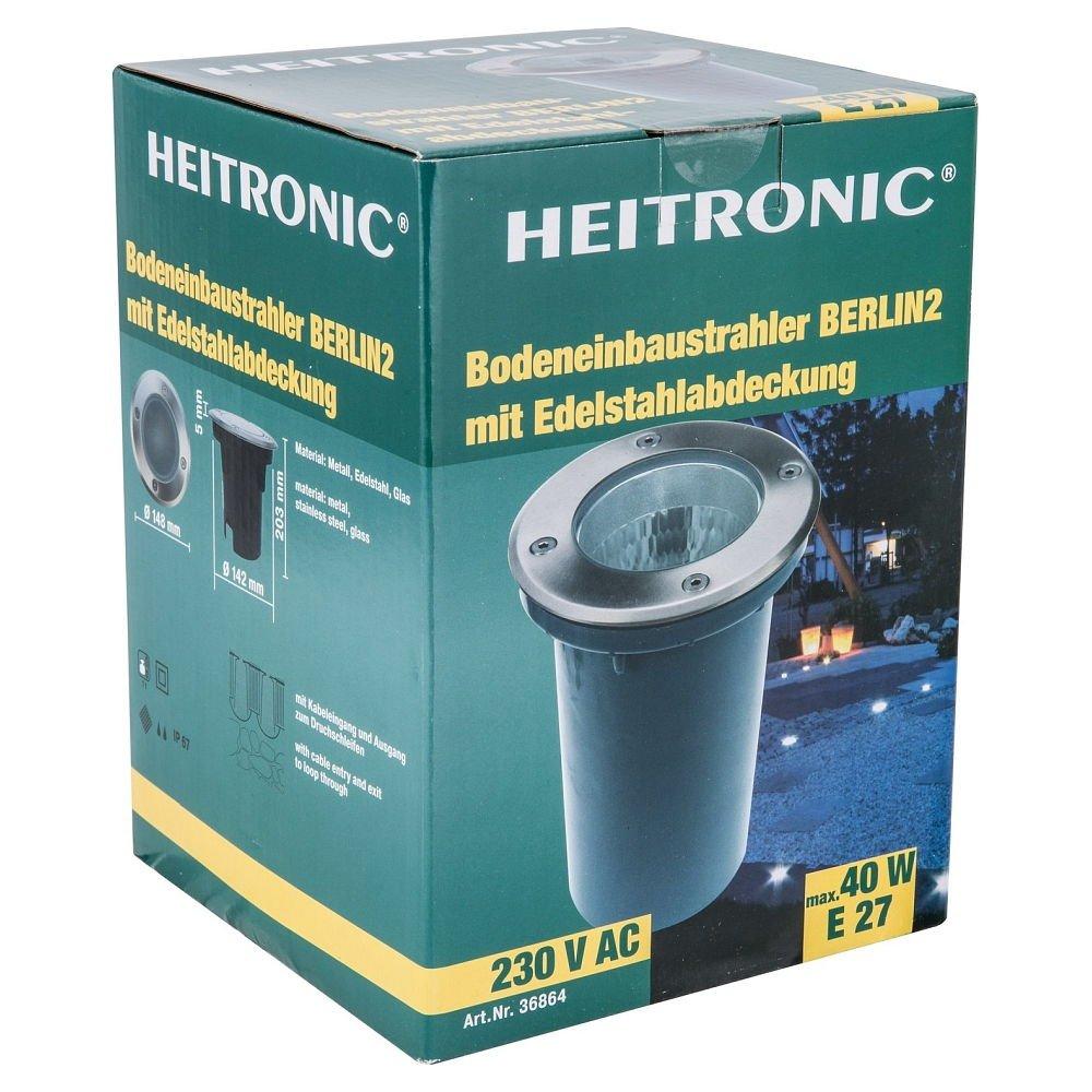 40W Heitronic Bodenleuchte Berlin IP67 36864